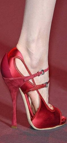 Dior Haute Couture Red Stiletto Sandal #Shoes #Heels