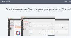 Octopin ~ Monitor, measure and help you grow your presence on Pinterest