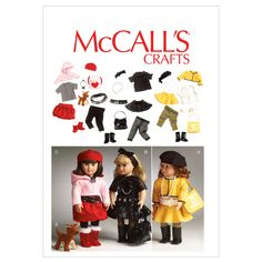 Clothes For 18' Doll, Accessories and Dog-One Size Only PatternClothes For 18' Doll, Accessories and Dog-One Size Only Pattern,