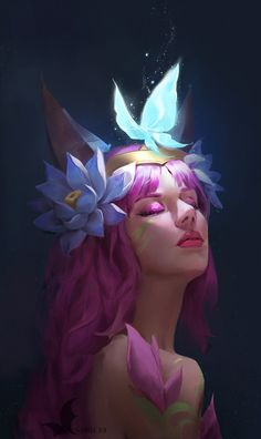 Nocturne League Of Legends Lol League Of Legends, Evelynn League Of Legends, League Of Legends Characters, Fantasy Girl, Ahri Wallpaper, Character Concept, Character Art, Ahri Lol, Ahri League