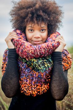 Banish winter blues, in the most colorful cowl possible