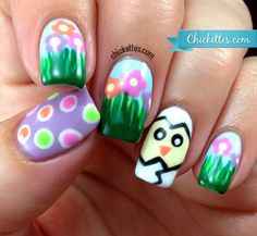 Diseños de Uñas de Gel para Pascua 7