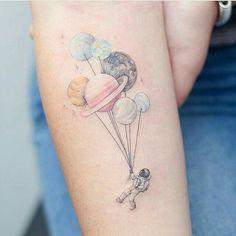 Inspiração para tatuagem Espacial