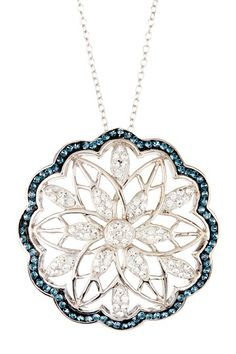 Sterling Silver Micro Pave Starburst Necklace by Candela on @HauteLook