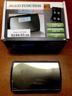 Multi-function pinhole camera alarm clock