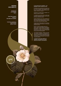 Poster by Xavier Esclusa / Executive Meditation / Siddhis Layout Design, Graphisches Design, Book Design, Design Elements, Vector Design, Design Trends, Graphic Design Posters, Graphic Design Typography, Graphic Design Inspiration
