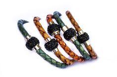 Leather bracelets with Black Rhinestones Leather Bracelets, Bangles, Black Rhinestone, Crafts, Collection, Jewelry, Women, Bangle Bracelets, Bracelets