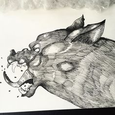 Possessed  #possessed #wolf #tentacles #tentacle #animalartists #animalart #animal #arts_help #arts_unite #arts_gallery #drawsofinsta #halloween #drawlloween #drawing #draw #micron #micronpen #fineliner #blackandwhite #fun #sketch #sketching #sketchbook #sketch_daily #sketchaday #dailychallenge #talentedpeopleinc by klasflod