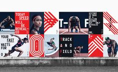 Nike Unveils New Branding Campaign for Its 2016 Track and Field Line - Graphic Design - Sport Ill Studio, Studio Build, Nike Campaign, Brand Campaign, Design Campaign, Environmental Graphics, Environmental Design, Visual Identity, Brand Identity