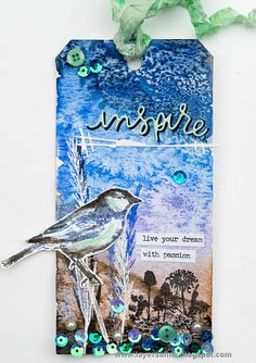 Layers of ink - Inspiring Bird Tag by Anna-Karin