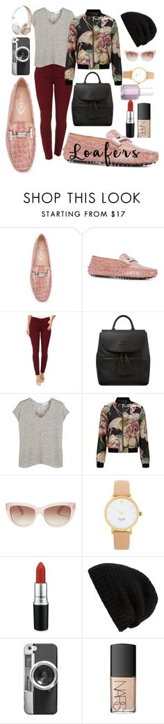 """Loafers"" by ical-rox ❤ liked on Polyvore featuring Tod's, 7 For All Mankind, Tory Burch, rag & bone, Miss Selfridge, Kate Spade, MAC Cosmetics, Rick Owens, Casetify and Beats by Dr. Dre"