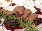 Pastrami Spice-Encrusted Venison with Huckleberry Ketchup Recipe : Emeril Lagasse : Recipes : Food Network