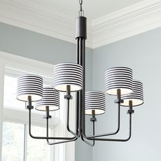 Turn on the fashion-forward style with our Striped Drum Chandelier Shade. Striped Drum Chandelier Shade features:Quick updateDesigned to mix and match Drum Shade Chandelier, Acrylic Chandelier, Chandelier Lighting, Ballard Designs Lighting, Drums Artwork, Drum Table, Drum Chair, Küchen Design, 3d Printer