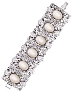Disney Bridal Elegant Faux Ivory Pearls and Crystal Bracelet - shop http://weddingish.com - $113