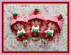 Strawberry Shortcake Inspired Polymer Clay by BeFairyCreative, $8.00