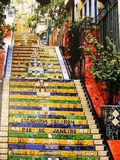 The colourful stairway of Santa Tereza in Río de Janeiro