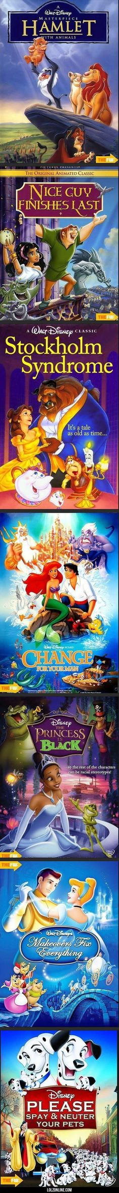 Brutally Honest Disney Posters#funny #lol #lolzonline