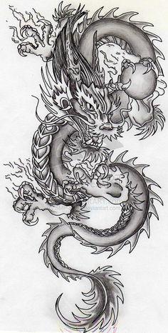 super ideas for tattoo dragon chinese tatoo Dragon Tattoo With Skull, Chinese Dragon Tattoos, Dragon Tattoo For Women, Dragon Tattoo Designs, Chinese Dragon Drawing, Kunst Tattoos, Bild Tattoos, Body Art Tattoos, Sleeve Tattoos
