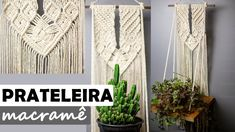 Roman Shades, Plant Hanger, Macrame, Youtube, Diy, Decor, Dashboards, Handmade Crafts, Plants