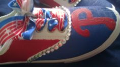 Philadelphia Phillies hand painted sneakers with by tjantnesh, $25.00