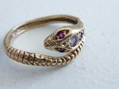 Your place to buy and sell all things handmade Snake Ring, Vintage Rings, Etsy Vintage, Amethyst, Rings For Men, Wedding Rings, Engagement Rings, Gold, Jewelry