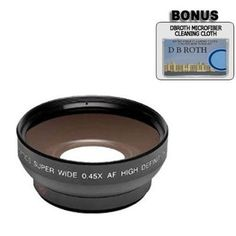 0.5x Digital Wide Angle Macro Professional Series Lens + DB ROTH Micro Fiber Cloth For The Olympus E-520, E-510, E-500, E-420, E-410, E-400, E-330, E-30, E-3, E-300, E-1 Digital SLR Cameras Which Have Any Of These (14-42mm, 40-150mm, 70-300mm) Olympus Lenses