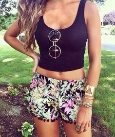 #summer #style / floral print romper