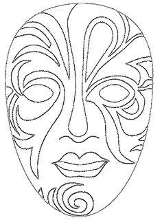 masken ausmalbilder - ausmalbilder für kinder | fasching