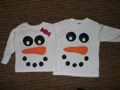 snowman shirts...now that I have their turkey shirts done...why not snowman shirts next?? :)
