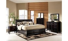Martini Suite Storage Bedroom Set.  Gonna need a new bed set. This one is cute but, I don't know about the knobs!