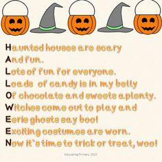 Haiku Halloween Poems  6 in the poem pack available on TpT.    http://www.teacherspayteachers.com/Product/Halloween-Poems-Pack-879091  My first TpT product. Support would be fantastic!