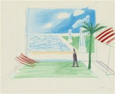 Untitled (Study for 'Septentrion') By David Hockney ,1975