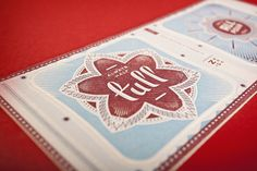 Firebelly Holiday Coaster Set by Will Miller, via Behance