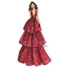 HNIllustration: Zendaya in @/MarchesaFashion sketched with @/copicmarker  #GoldenGlobes