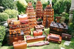 Gorgeous old luggage. Someone please call a couple of porters...