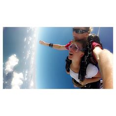 The funniest expression on my face but it was an amazing experience skydiving over the Great Barrier Reef and landing on mission beach #falling #skydive #missionbeach #australia #greatbarrierreef #travel #bucketlist  by jessicalmcn http://ift.tt/1UokkV2