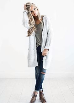 sweaters, light grey sweater, fall fashion, womens fashion, shop jessakae Women, Men and Kids Outfit Ideas on our website at 7ootd.com #ootd #7ootd