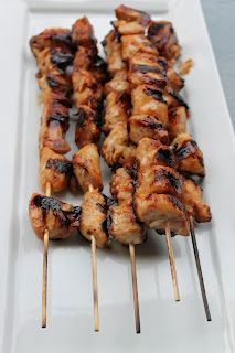 BBQ Chicken Skewers- made w chicken tenders and it was awesome.  I also made w boneless skinless thighs  and it was not good. Use white meat cut in cubes.