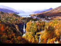 [4K]Autumn Lake Chuzenji in Nikko 日光の紅葉•中禅寺湖と華厳の滝 日本の紅葉