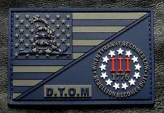 velcro-compatible hook backing Loop Not Included. Velcro Patches, Cool Patches, Sew On Patches, Iron On Patches, Army Patches, Garra, 3 Percenter Tattoo, Tactical Patches, Custom Patches