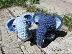 elephants - amigurumi - crochet - organic cotton - handmade with love by lamebaverde
