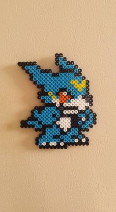 Veemon - Digimon magnet perler beads by wxrchief