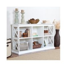 TV Stand Media Console Table Storage Cubbie Bookshelves Office Furniture Shelf  #Modern