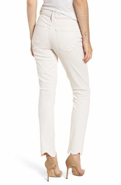 5fb194df4ec MOTHER The Flirt Chew Ankle Straight Leg Jeans (Unnatural Acts)