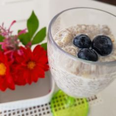 Pouding chia, poire et mélilot Pouding Chia, Nutrition, Cereal, Oatmeal, Breakfast, Food, Chia Seeds, Pears, Snacks
