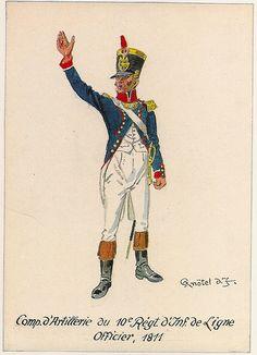 Capitano di artiglieria reggimentale del 10 rgt. di fanteria della linea