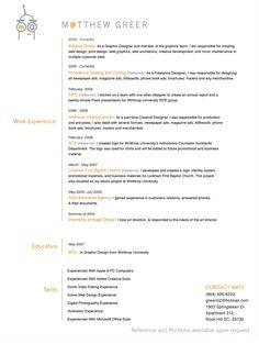 27 More Outstanding Resume Designs – Part II - DzineBlog.com
