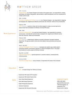27 More Outstanding Resume Designs – Part II - DzineBlog.com