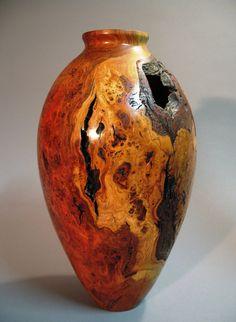 Cherry Burl vase - I like turned wood