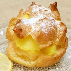 This lemon cream puff recipe makes light fluffy puffs and a tangy lemon filling.. Lemon Cream Puff Recipe